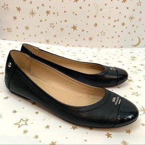 Coach | Chelsea Cap Toe Black Ballet Flats Size 7